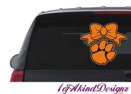 Clemson University Tigers Paw Decal Sticker Hip Hop Vinyl Car Truck Laptop Window By Amr1ofakind On Etsy With Images Tiger Paw Clemson University Tigers Vinyl