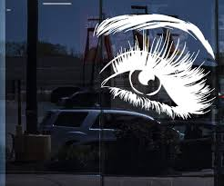 Window Sign Vinyl Wall Decal Beautiful Eye Eyelashes Makeup Fashion Be Wallstickers4you