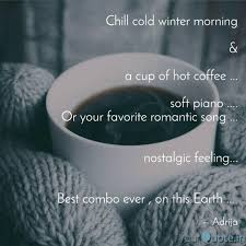 chill cold winter morning quotes writings by adrija saha