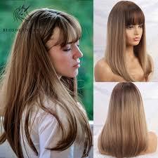 شقراء يونيكورن الاصطناعية طويل شعر أملس ناعم الجذر الداكن أومبير