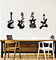 Vinyl Wall Decal Music Rock N Roll Guitarist Electric Guitar Stickers Wallstickers4you
