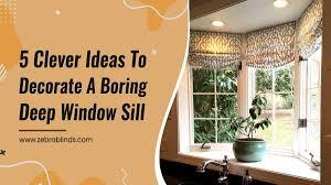 decorate a boring deep window sill