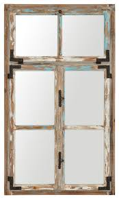 rustic wall mirror distressed wood