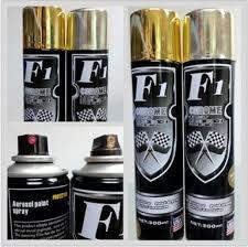f1 chrome spray paint 300ml golden and