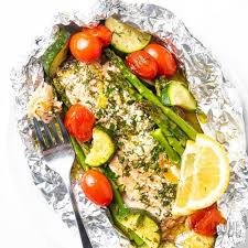 baked salmon foil packets with