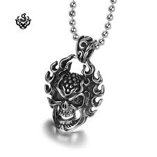 pendant stainless steel chain necklace