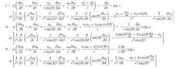 navier stokes equations comtional