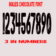 Bulles Vinyl Font 3 Inch Numbers Choose Color Mailbox Number Price Per Number Window Sticker From Big Tees Printing Vinyl Lettering Custom Letters Window Stickers