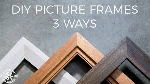 picture frame 3 ways diy woodworking
