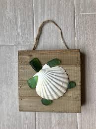 seashell turtle wall decoration