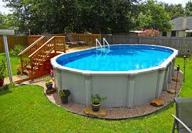 5 Benefits Of Above Ground Pools The Pool Factory Above Ground Pool Landscaping Backyard Pool Backyard Pool Landscaping