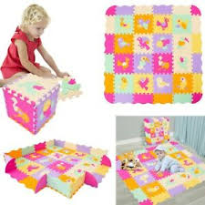 Kids Baby Play Mat Set Non Toxic Extra Thick Foam Large With Gate Fence Crawling Ebay