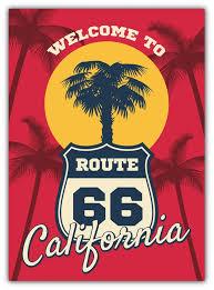California Beach Seashore Route 66 Vinyl Sticker Decal Etsy