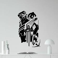 Avengers Wall Decal Captain America Hawkeye Superheroes Vinyl Sticker Art 235zzz Ebay