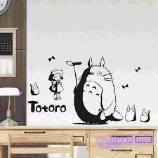 Totoro Wall Decal Vinyl Wall Stickers Decal Decor Home Decorative Decoration Anime Totoro Car Sticker Wall Stickers Aliexpress