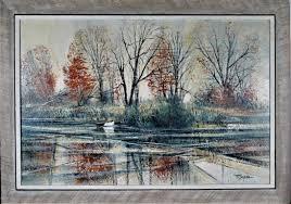 Richard Ellis Wagner - Autumn River Bank For Sale at 1stDibs