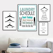 Cartoon Clothespin Hangers Socks Quotes Wall Art Canvas Painting Nordic Posters And Prints Wall Pictures For Laundry Room Decor Painting Calligraphy Aliexpress