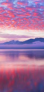 pink waves nature landscape wallpaper