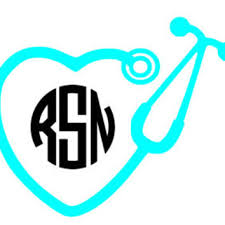 Stethoscope Monogram Vinyl Decal Nurse From Forever Me Boutique
