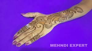 left hand mehndi design easy and beautiful