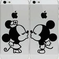 Mickey Minnie Kissing Apple Iphone 6 Iphone 5 5s Vinyl Decal Sticker Skin Ebay