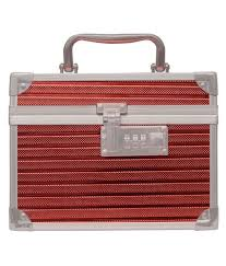 red makeup kits and pouches