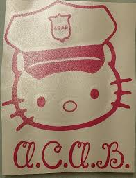 Acab Hello Kitty All Cats Are Beautiful Die Cut Vinyl Sticker Decal Blasted Rat