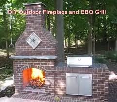 diy outdoor fireplace and bbq grill
