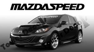 Mazda Mazdaspeed Windshield Window Banner 36 Inch Vinyl Decal Accessor Roe Graphics And Apparel