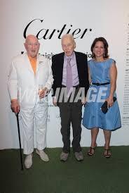 Artist Malcolm Mosley Richard Artschwager and Mercedes Abramo attend... |  WireImage | 139944768