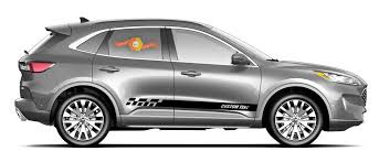 2x Side Ford Escape Vinyl Stripes Body Decal Vinyl Graphics Sticker Custom Text Style 4