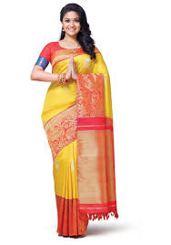 yellow vivaha bridal silk saree vbbs002