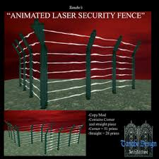 Second Life Marketplace Animated Security Laser Fence Boxed Slm