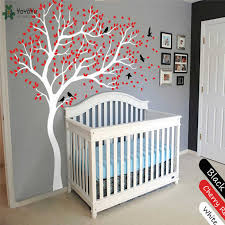 Wall Decal Vinyl Sticker White Tree Large Tree Wall Decor Desgin Color Wall Mural Nursery Kid Room Bedroom Playroom Posterww 340 Stickers White Kids Roomwall Mural Aliexpress
