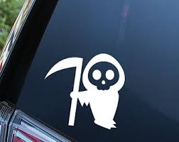 Ghost Window Decal Etsy
