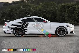 Decal Sticker Vinyl Back Side Wavy Destorder Us American Flag Stripe Kit Compatible With Ford Mustang 2015 2017 Ultimateprocy