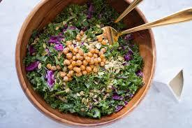 vegan kale caesar salad with a lemony
