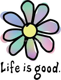 Life Is Good Rainbow Flower Hydroflask Stickers Print Stickers Aesthetic Stickers