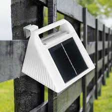 6 Led Solar Fence Light Waterproof Outdoor Garden Security Lighting Lamp Ebay