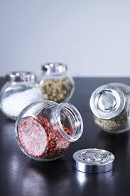 rajtan spice jar glass aluminum