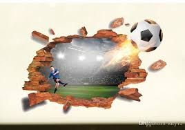 3d Brocken Football Soccer Wall Stickers For Kids Boy Rooms Tv Background Living Room Bedroom Wall Decals Decoration Wall Sticker Deals Wall Sticker Decor From Kity12 4 03 Dhgate Com