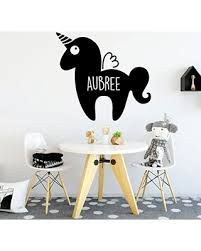 New Deal On Cute Unicorn Wall Decal Personalized Vinyl Decor For Girl S Bedroom Playroom Or Bathroom Kids Home Decorations