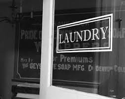 Laundry Decal Etsy