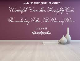 Isaiah 9 6 Kjv Vinyl Wall Scripture And His Name Shall Be Called Wonde Inspirational Wall Signs