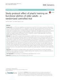 pdf study protocol effect of playful