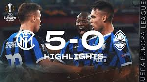 INTER 5-0 SHAKHTAR   HIGHLIGHTS   2019/20 UEFA Europa League   We're in the  Final!!! 🏆⚫🔵 - YouTube