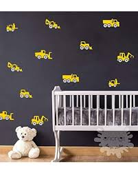 Special Prices On Construction Vehicles Wall Decal Cars Wall Decal 2 Color Cars Wall Sticker Construction Truck Stickers Kids Wall Decor Kids Room