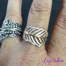 pandora rose gold feather ring 35d41 e2901