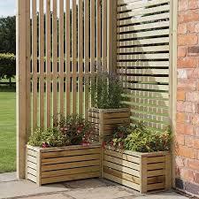 Rowlinson Garden Planter Screen Corner Set Garden Planters Garden Planters Uk Outdoor Gardens Design