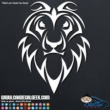 Tribal Lion Head Car Decal Window Sticker Graphic